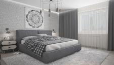 Визуализация спальни (3D max V-Ray)