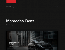 Промо страница для Mersedes Benz GLE 43