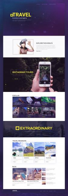 Дизайн сайта по продаже туров