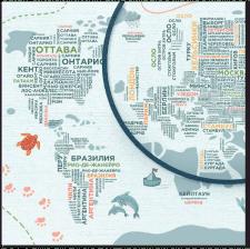 Карта с инфографикой