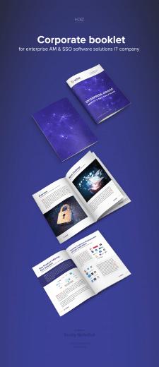 Дизайн буклета для IT компании из США