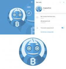 Иконка для криптовалютного бота в Telegram