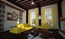 Интерьер гостиной. Квартира в старом центре города
