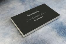визитка для дизайнера интерьеров