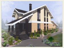 Цветовое решение жилого дома в Тюменской области