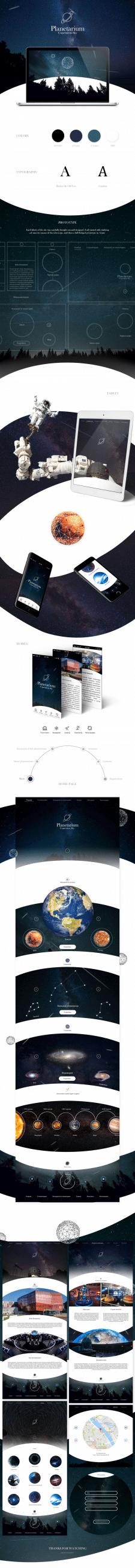 Сайт для польского планетария (Небо Коперника)