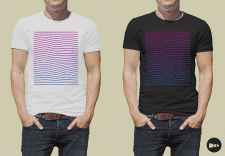 Colored waves - T-Shirt