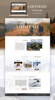"""Landing page """"Carpathians"""""""
