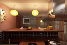Кухня с барной стойкой!