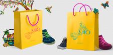 Фирменный пакет для магазина детской обуви
