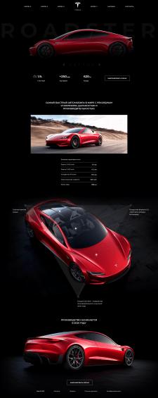 Landing Page Tesla