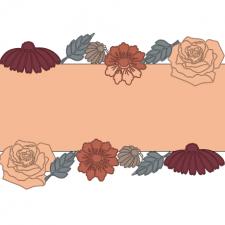 красивая картинка с осенними цветами с надписью