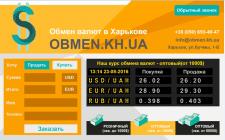 Сайт-калькулятор по обмену валют