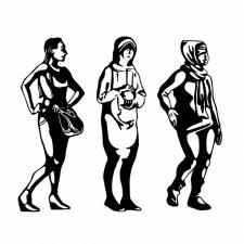 Серия графических иллюстраций, персонажи