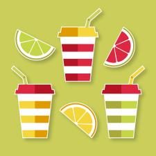 Illustration фруктовый сок
