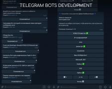 Разработка Telegram-бота любой сложности