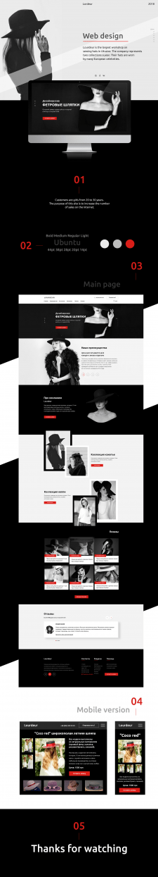 Сайт дизайнерских шляпок