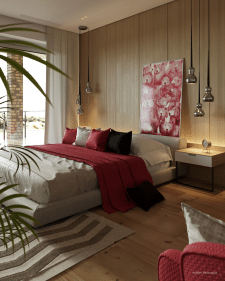Проект частного дома под Киевом (спальня)