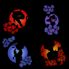 """""""Inktober Flowers"""" collection of silhouettes"""