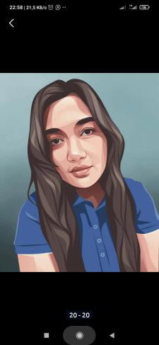 Вектор рисунок портрет