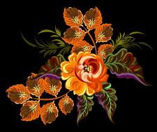 Жостовска роспись, вектор