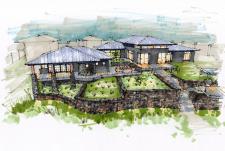 Проект дома и банного комплекса