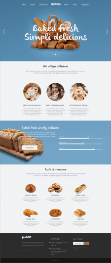 Landing Page - Пекарня