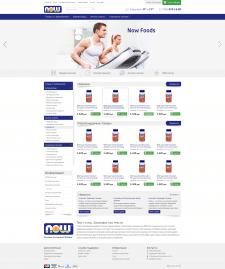Создание сайта Now-foods.ru