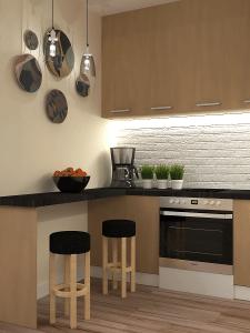 Кухня-гостиная в трехкомнатной квартире