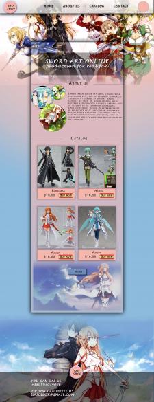 сайт для продажи аниме фигурок SAO