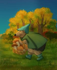 Ежик в лесу