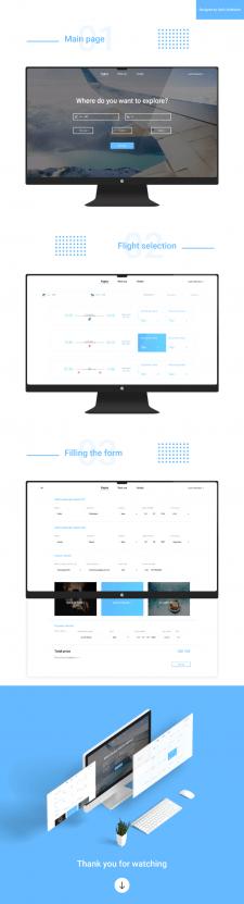 Дизайн сайта для продажи авиабилетов | Airlines
