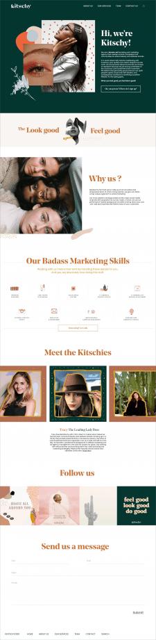 """Разработка сайта для студии на WordPress """"Kitschy"""""""