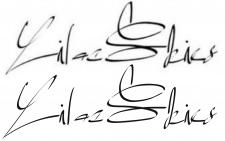 Отрисовка каллиграфических надписей