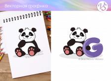 """Детские иллюстрации """"Панда"""""""