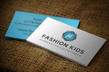 Разработка дизайна визитки для детского магазина