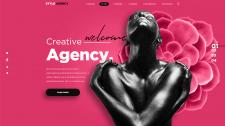 Главный экран дизайн-агентства