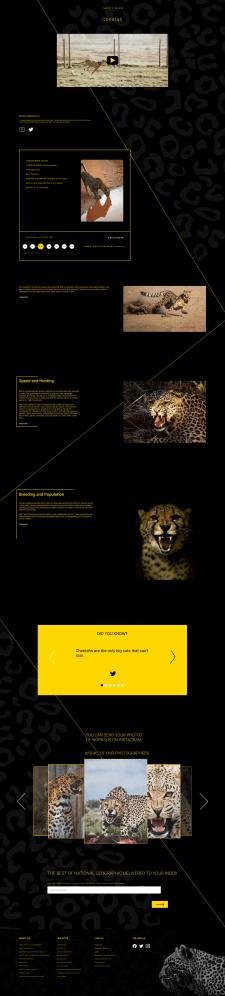 Редизайн страницы National Geographic !