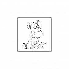 раскраски для детей - пес