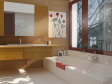 3д модель ванной комнаты