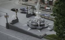 Скульптура с фонтаном