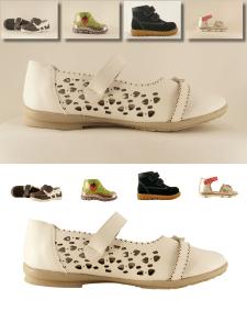 Обтравка серии детской обуви
