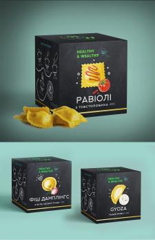 Дизайн упаковки премиум пельменей