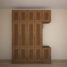 моделирование деревянного шкафа