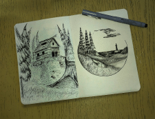 Рисунки в блокноте