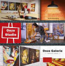 Баннеры для слайдера картинной галереи в Голландии