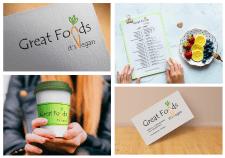 логотип для вегетарианского кафе