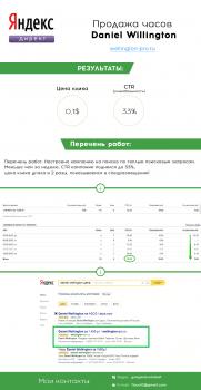 Яндекс Директ -  Часы Daniel Wellington