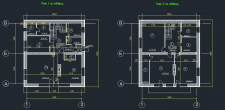 Drawings of floor plans of a country house
