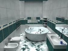 ванная (программа: 3D Max)